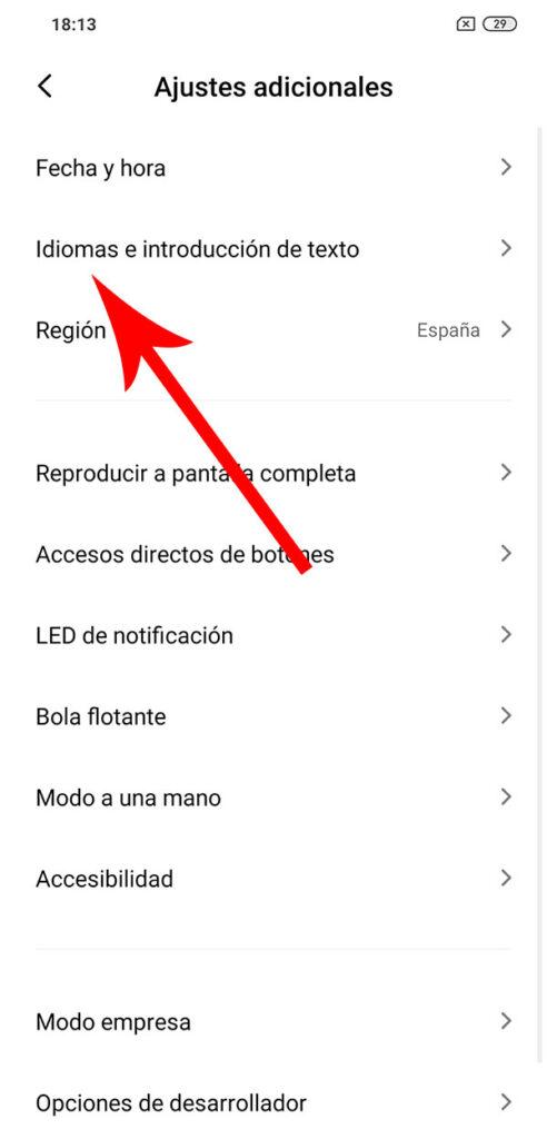 Como cambiar el teclado en Android