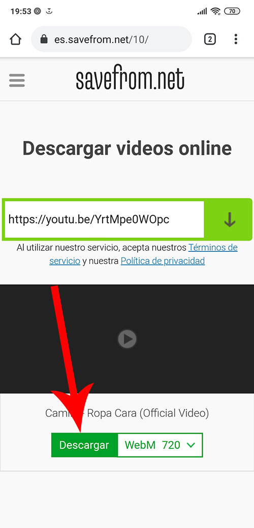 Como descargar videos YouTube en Android