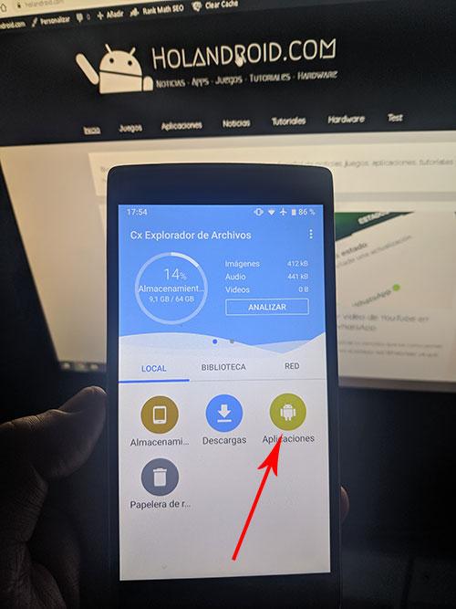 Como extraer archivos apk en Android