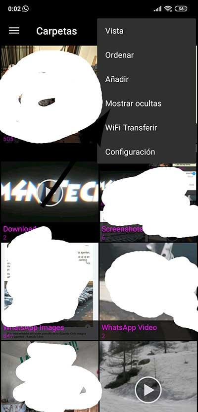 Como ocultar fotos en Android