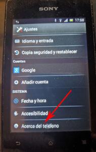 como saber que versión de Android tengo