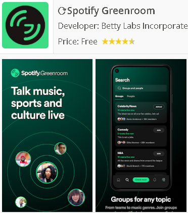 Descarga Spotify Greenroom para Android