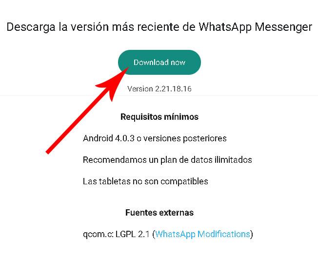 Descarga Whatsapp Messenger Apk