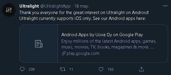 Descargar Ultralight app