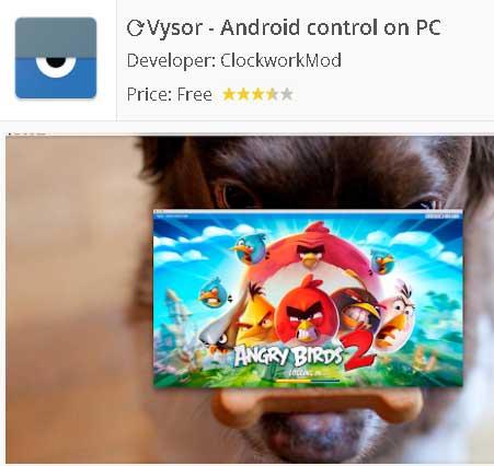 Descargar Vysor - Android control on PC