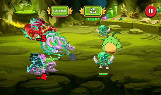 Dragonary para Android partida