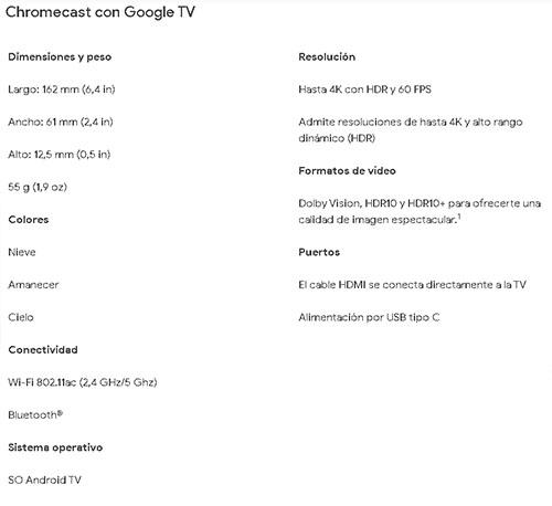El nuevo Chromecast Google Tv