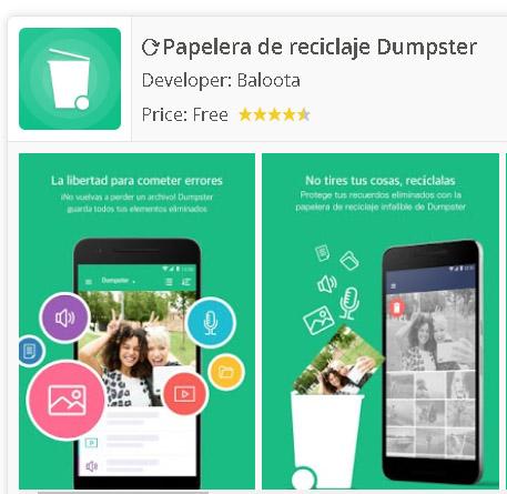 Papelera de reciclaje para Android