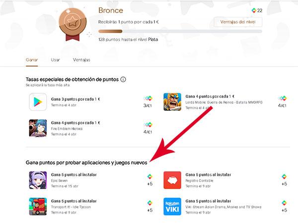 Que son los Play Points de Google Play Store y como ganarlos