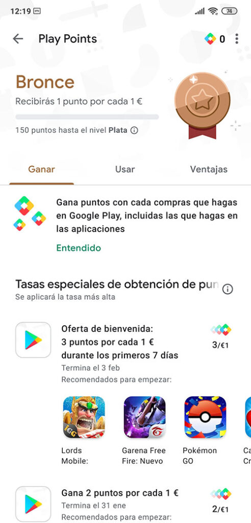 Que son los Play Points de Google Play Store