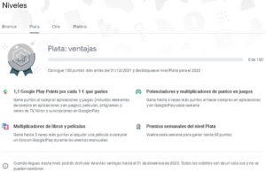 Que son los Play Points de Google Play Store ventajas nivel plata