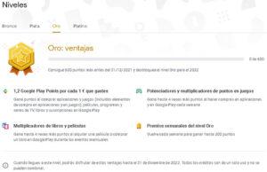 Que son los Play Points de Google Play Store ventajas nivel oro