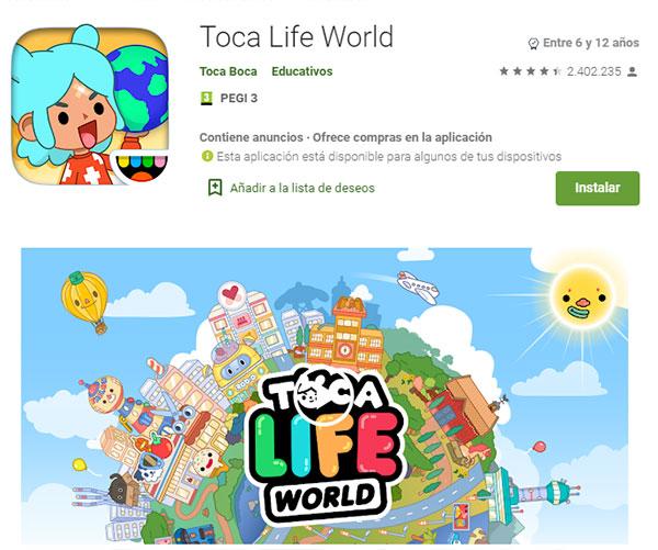 Toca Life Android, toca boca