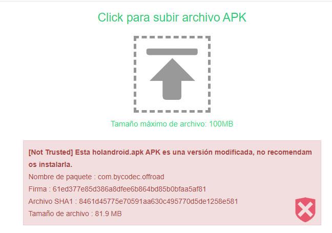 verificar firmas archivo apk