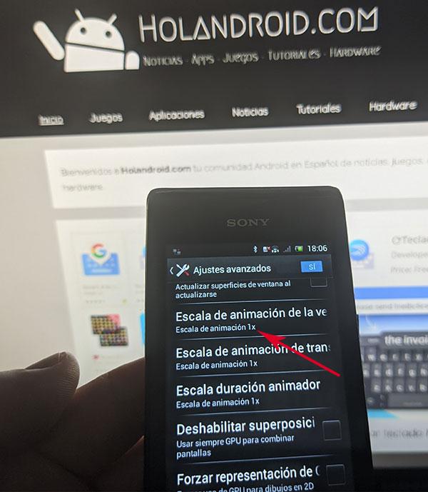 como acelerar dispositivo Android con opciones de desarrolladores