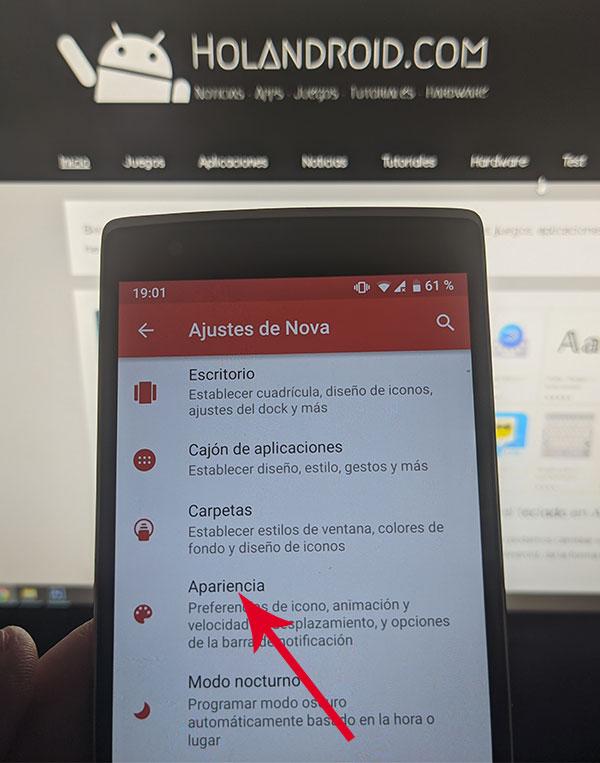 acelerar tablet y movil android con Nova Launcher