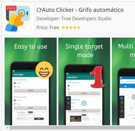 Descargar auto clicker Android